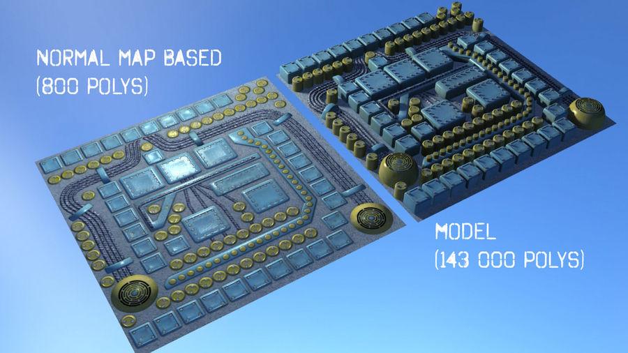 Paneel met onderdelen - motormachines royalty-free 3d model - Preview no. 4