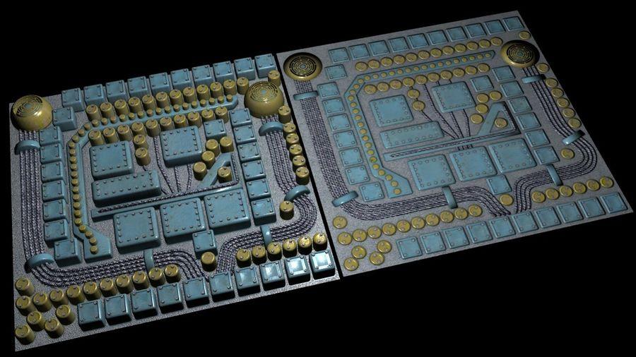 Parçaları olan panel - motor makinaları royalty-free 3d model - Preview no. 2