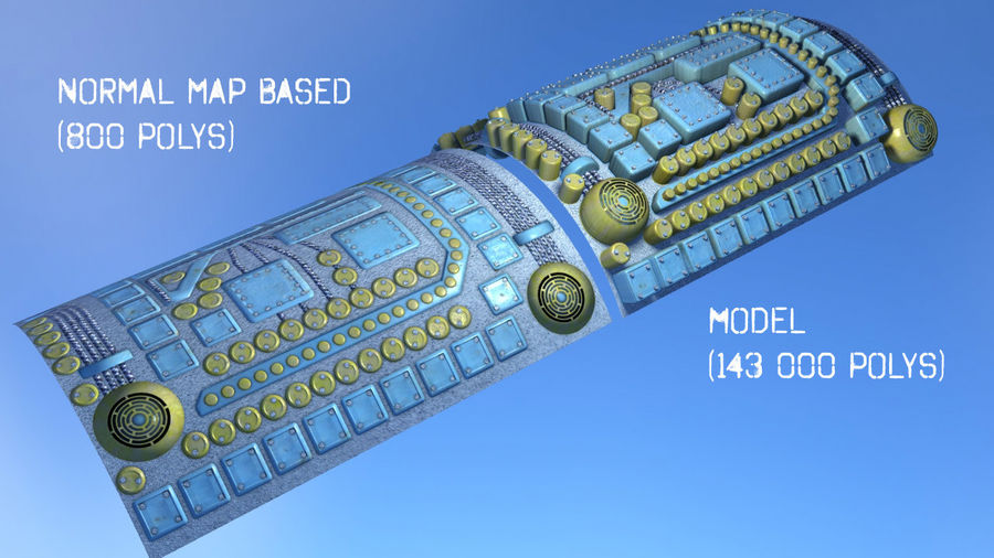 Panel with parts - engine machinery royalty-free 3d model - Preview no. 3