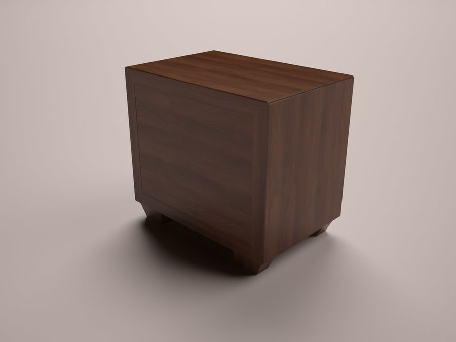 Serenity Nightstand royalty-free 3d model - Preview no. 5