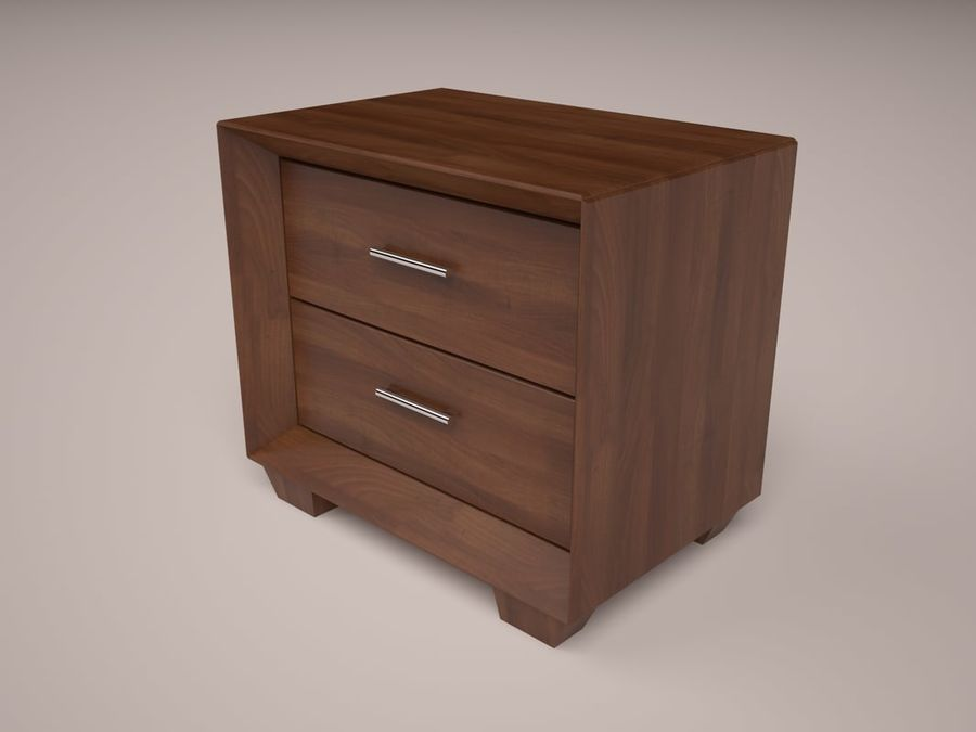 Serenity Nightstand royalty-free 3d model - Preview no. 2