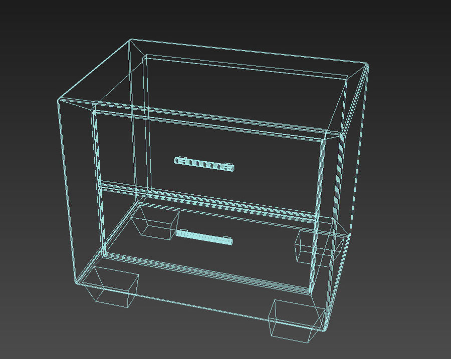 Serenity Nightstand royalty-free 3d model - Preview no. 3