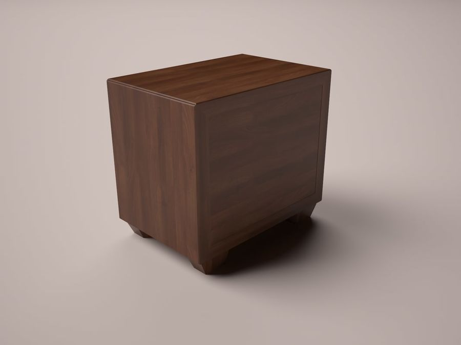 Serenity Nightstand royalty-free 3d model - Preview no. 4