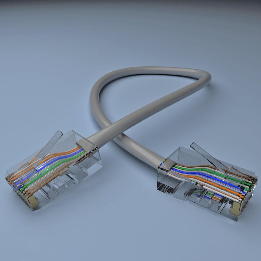 Cable de ethernet royalty-free modelo 3d - Preview no. 4