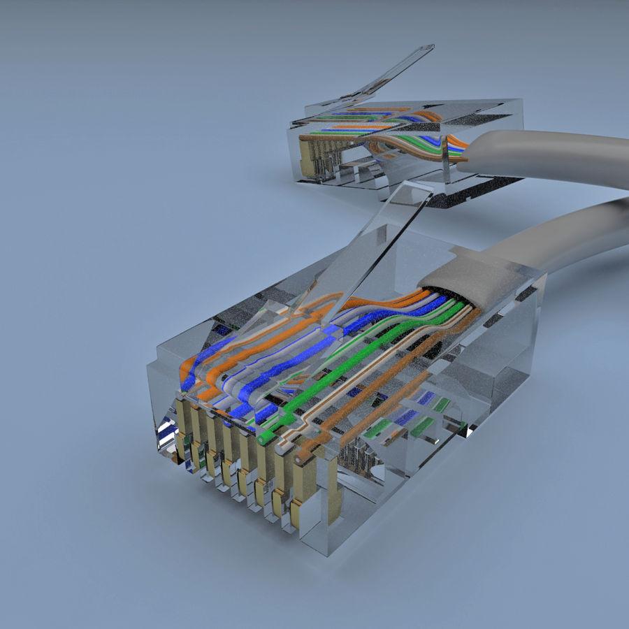 Cable de ethernet royalty-free modelo 3d - Preview no. 5