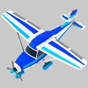Cartoon Trainer Aircraft 2 3d model