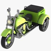 Cartoon Motorized Tricycle 2 3d model