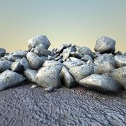 Rochas detritos 1 3d model