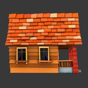 툰 하우스 3d model