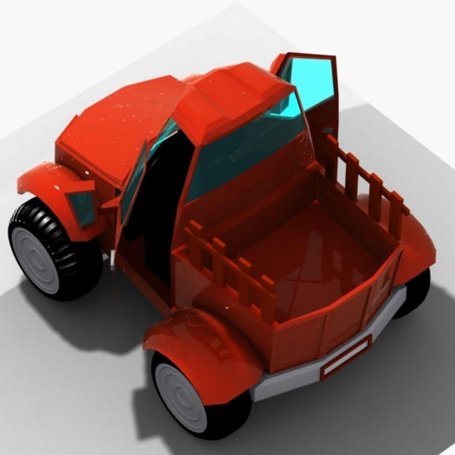 漫画車3 royalty-free 3d model - Preview no. 12