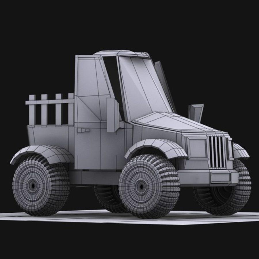 漫画車3 royalty-free 3d model - Preview no. 15