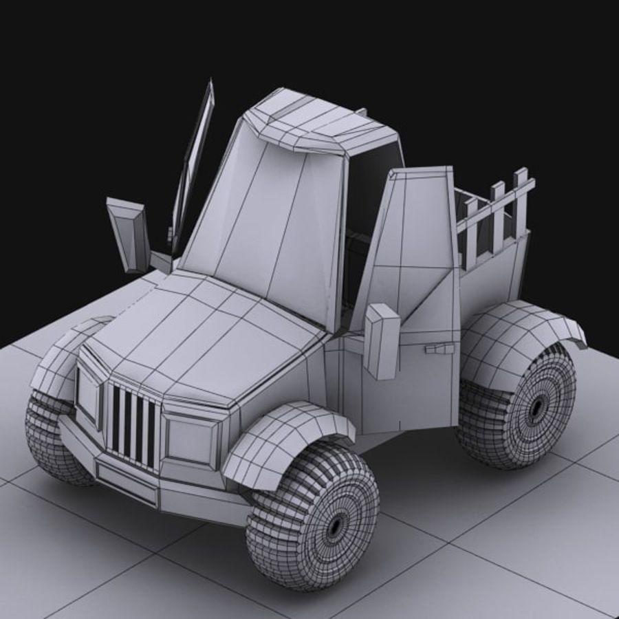 漫画車3 royalty-free 3d model - Preview no. 17