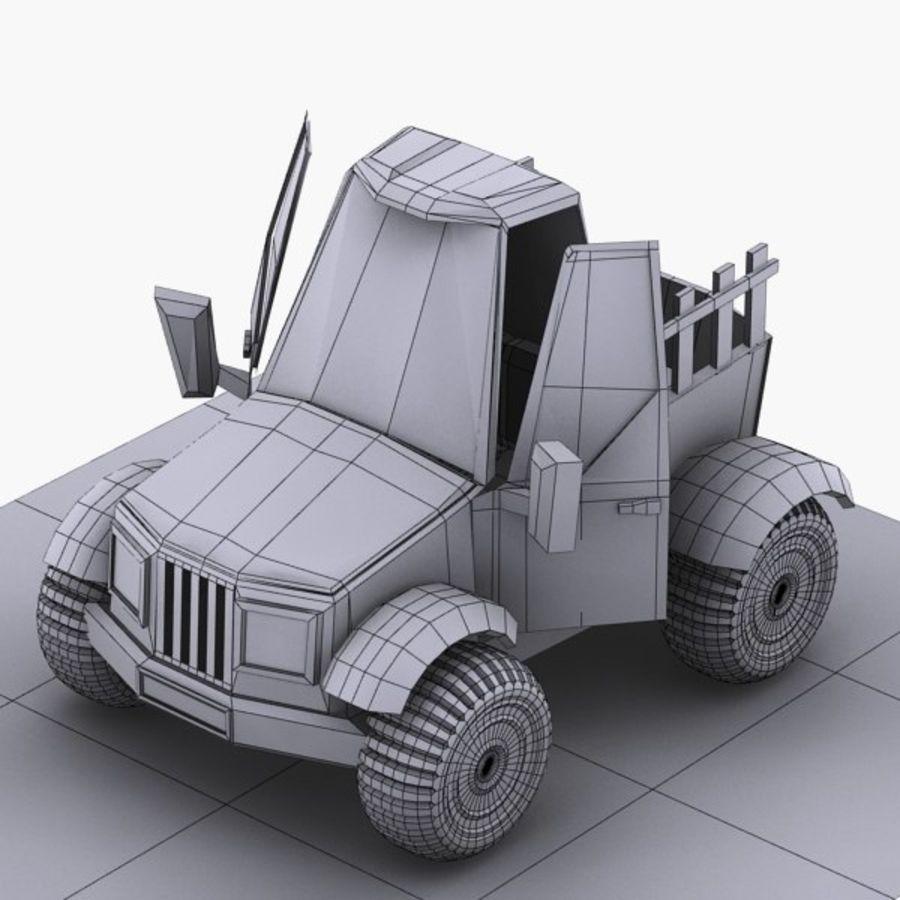 漫画車3 royalty-free 3d model - Preview no. 16