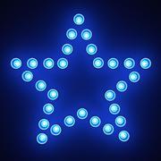 Лампочка звезда 3d model