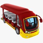 Cartoon Tour Bus 3d model