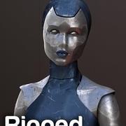 Robô de atendimento antigo 3d model