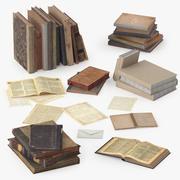Oude boeken 3d model