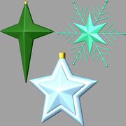 étoiles de noël 02 3d model