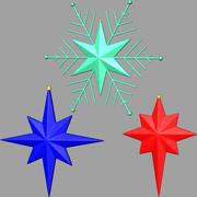 christmas stars 03 3d model