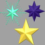 christmas stars 04 3d model