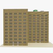 Bâtiment 3 bureaux et appartements 3d model