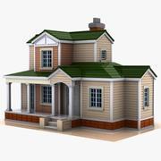 Cartoon House (19) 3d model