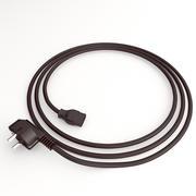 Güç kablosu ve fişi 3d model