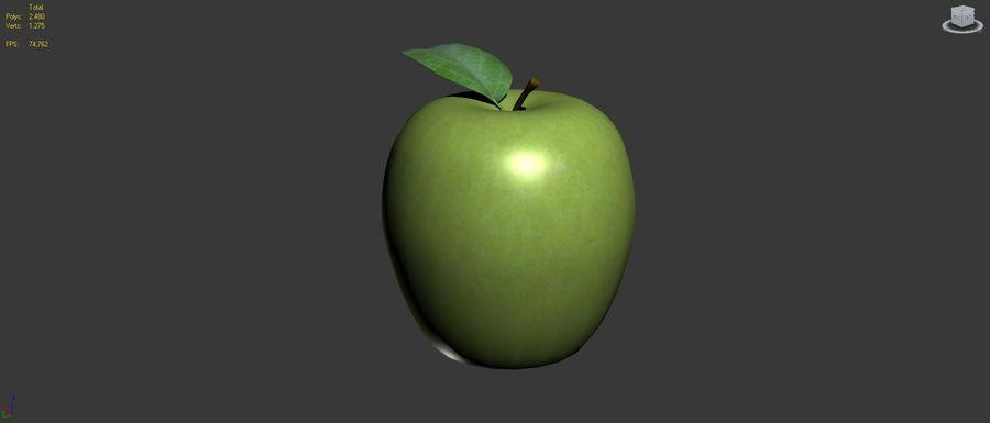 Зеленое яблоко готово к игре royalty-free 3d model - Preview no. 11