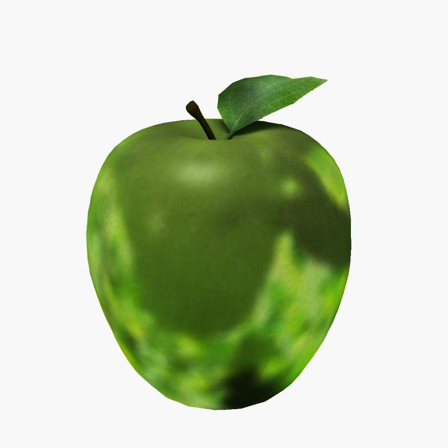 Зеленое яблоко готово к игре royalty-free 3d model - Preview no. 1
