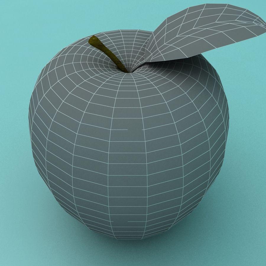 Зеленое яблоко готово к игре royalty-free 3d model - Preview no. 7