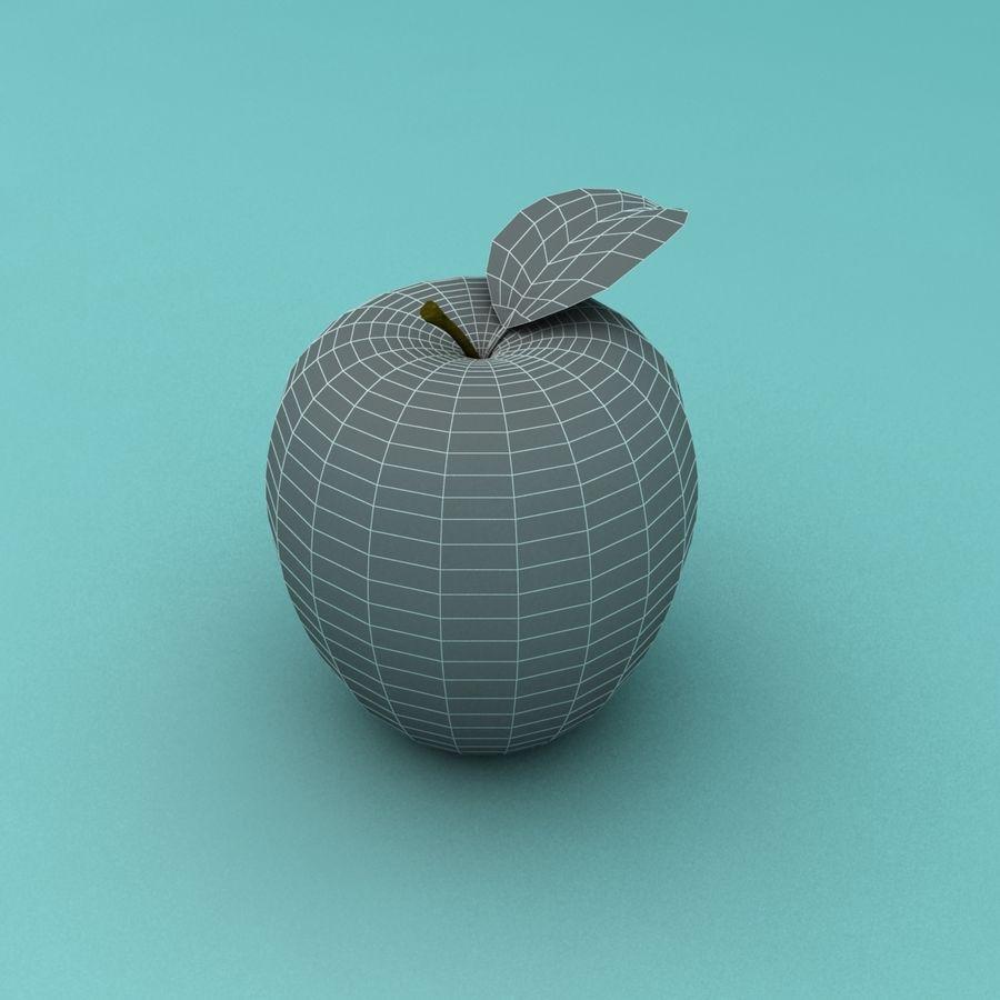 Зеленое яблоко готово к игре royalty-free 3d model - Preview no. 8