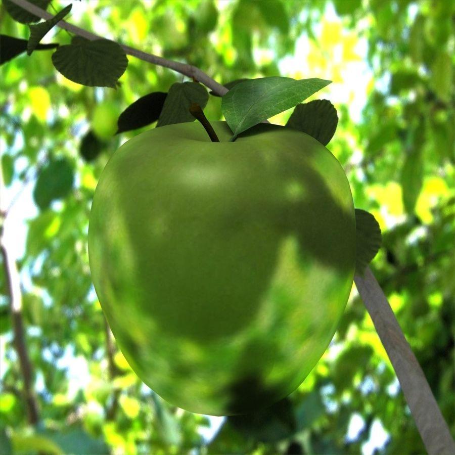 Зеленое яблоко готово к игре royalty-free 3d model - Preview no. 2