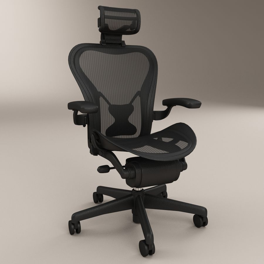 herman miller aeron bureaustoel royalty-free 3d model - Preview no. 1