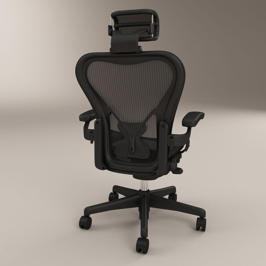 herman miller aeron bureaustoel royalty-free 3d model - Preview no. 3