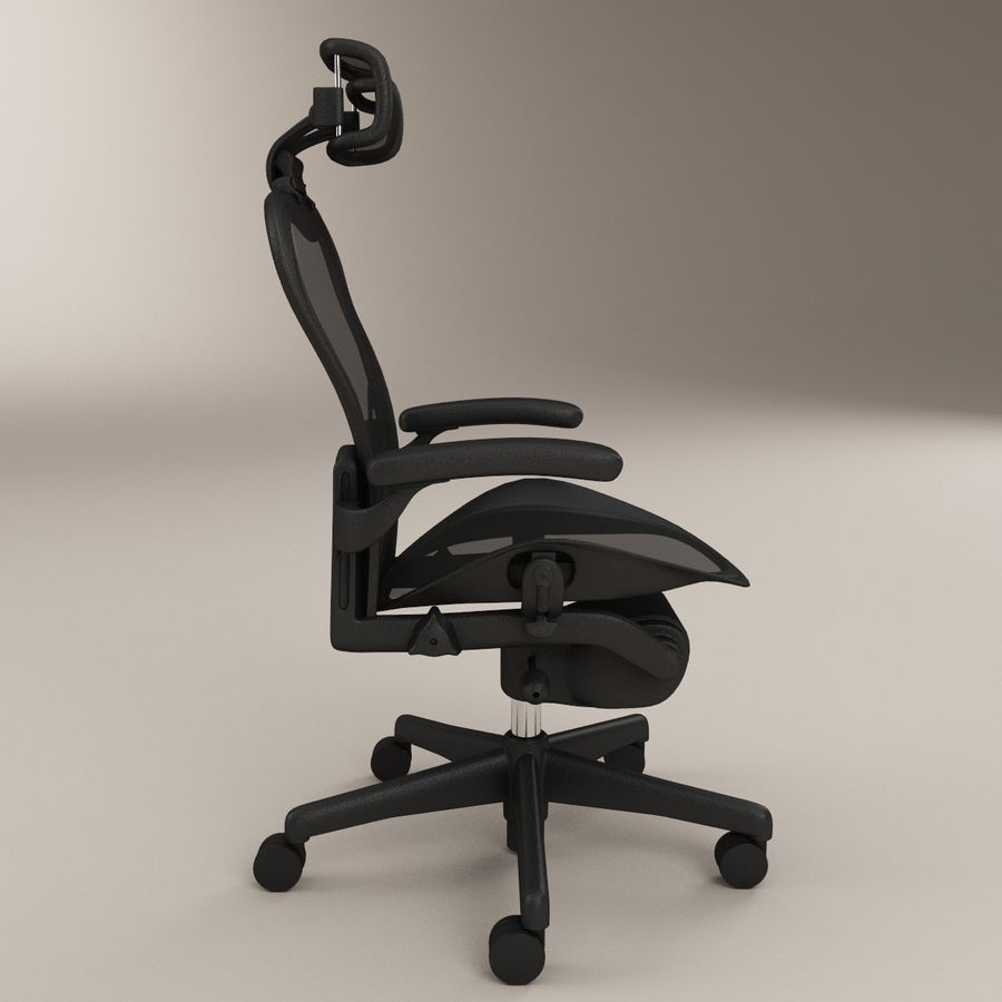 sedia da ufficio herman miller aeron royalty-free 3d model - Preview no. 2