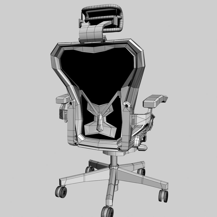herman miller aeron bureaustoel royalty-free 3d model - Preview no. 5