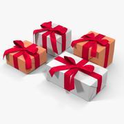 Gift Boxes White 3d model