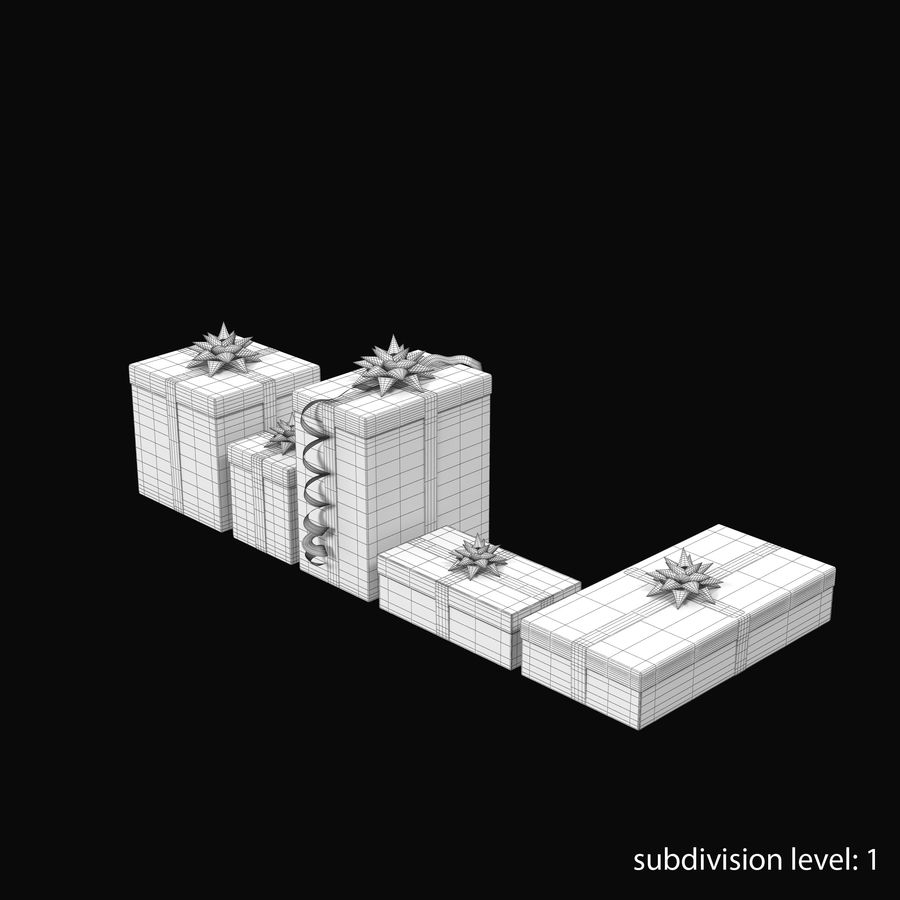Geschenkboxen Rot royalty-free 3d model - Preview no. 13