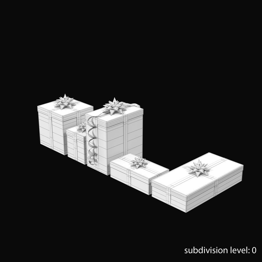 Geschenkboxen Rot royalty-free 3d model - Preview no. 12