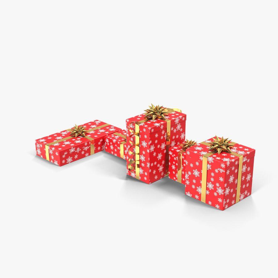 Geschenkboxen Rot royalty-free 3d model - Preview no. 3