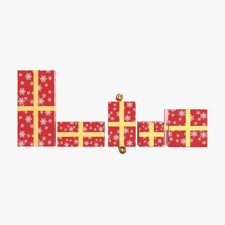 Geschenkboxen Rot royalty-free 3d model - Preview no. 9