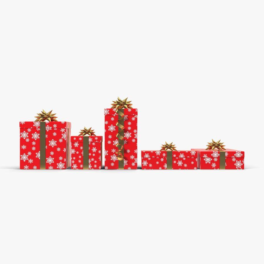 Geschenkboxen Rot royalty-free 3d model - Preview no. 4