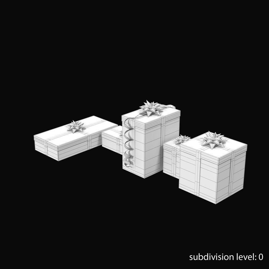 Geschenkboxen Rot royalty-free 3d model - Preview no. 14