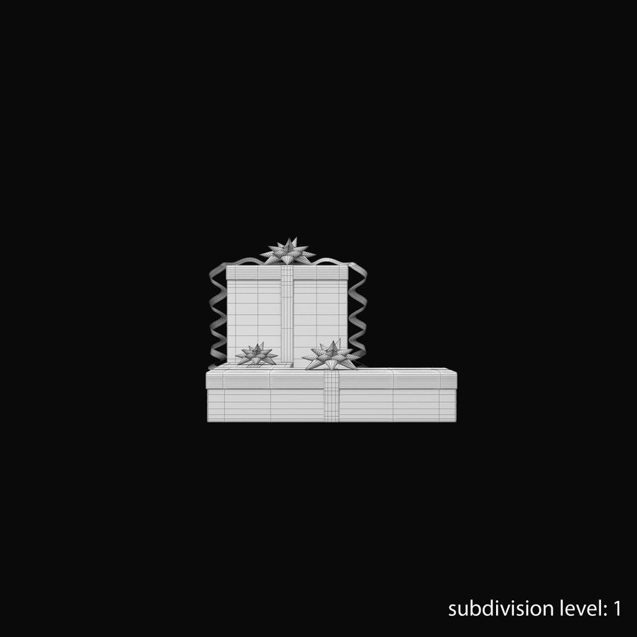 Geschenkboxen Rot royalty-free 3d model - Preview no. 19