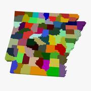 Kaart van de provincie - Arkansas 3d model