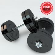 Kleine gewichtsstaaf 3d model