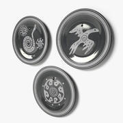 Decorative Ethnic Wall Dishes #4 3d model