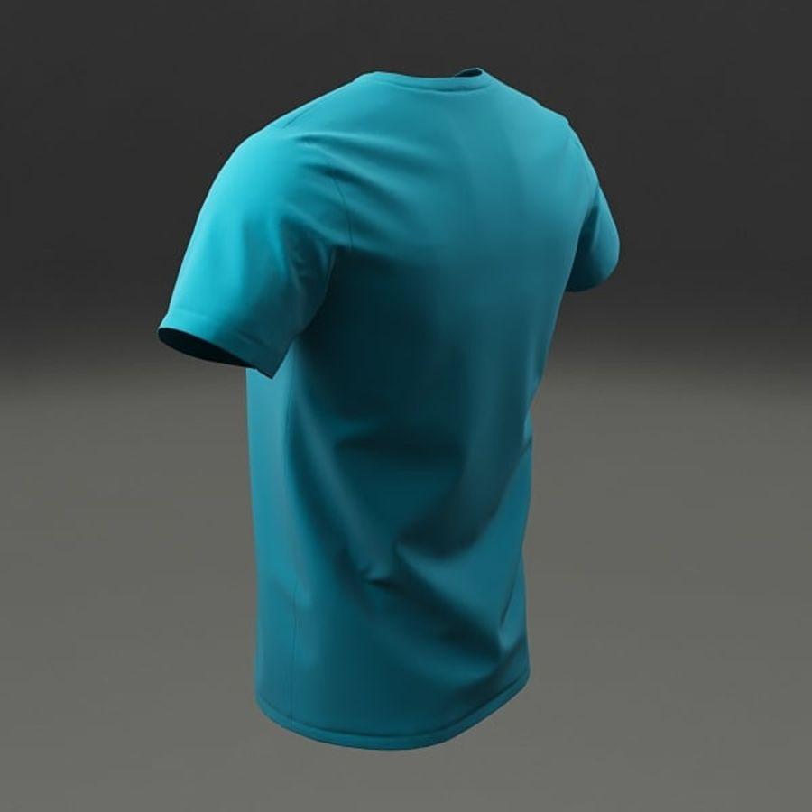 T-shirt męski royalty-free 3d model - Preview no. 8