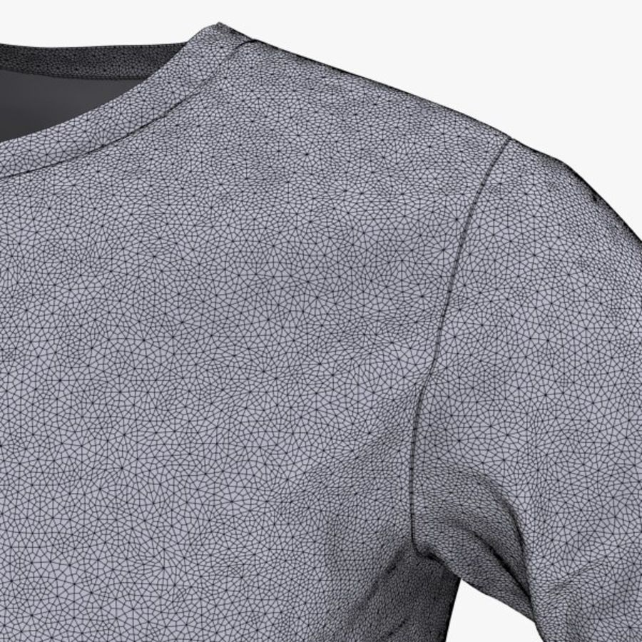 T-shirt męski royalty-free 3d model - Preview no. 5