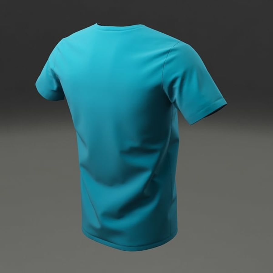 T-shirt męski royalty-free 3d model - Preview no. 7